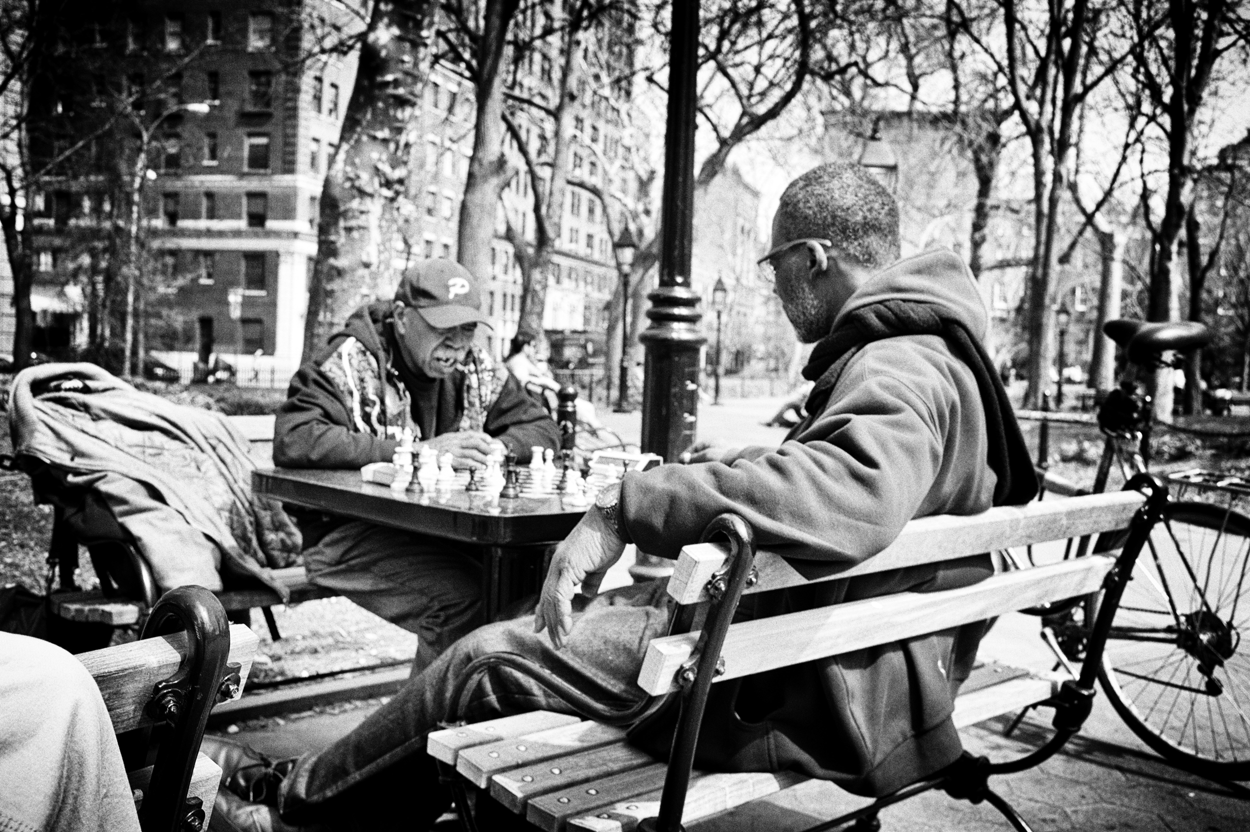 chess, washington square park nyc