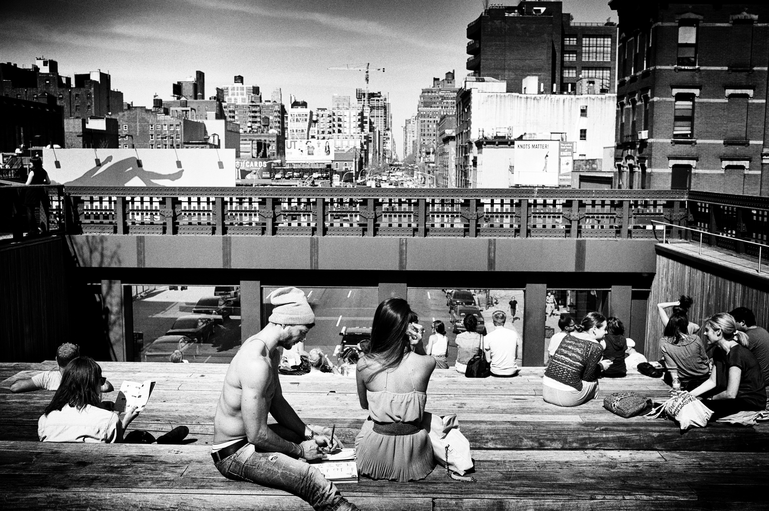 students, high line nyc